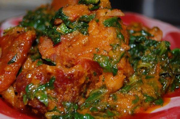 Smoked Turkey Efo Riro (nigerian dish)