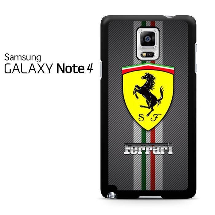 Ferrari Logo Stripe Samsung Galaxy Note 4 Case