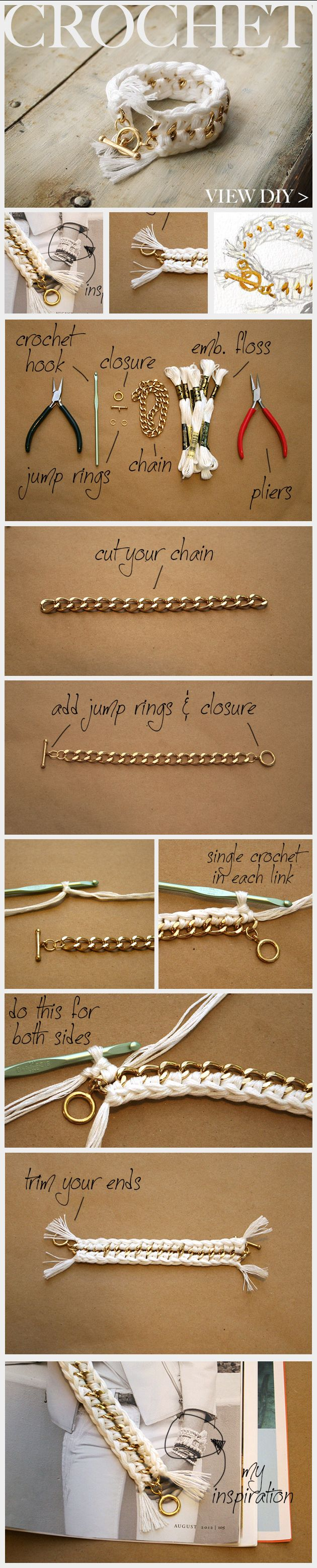 pulseira, I have the perfect chain for this already and  a neckace too! oh so excited and inspired! <3