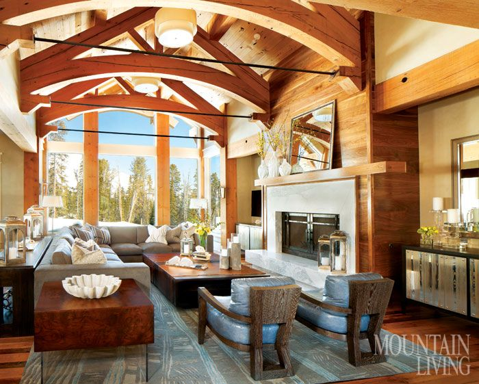 216 best Living Rooms images on Pinterest | Mountain houses ...