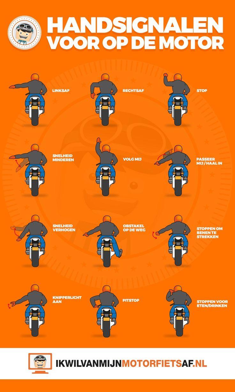 De meest gebruikte motor handsignalen op een rij. https://www.ikwilvanmijnmotorfietsaf.nl/aktueel/motor-handgebaren