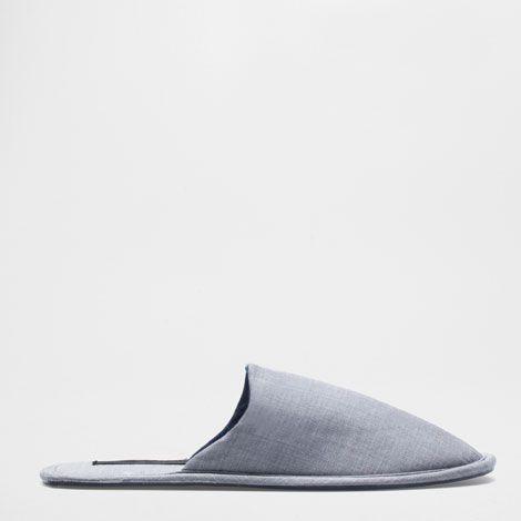 STOFFEN SLIPPER MET ZOOL - Schoenen - Man - Homewear & shoes | Zara Home Netherlands