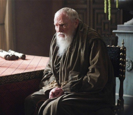 Julian Glover as Grand Maester Pycelle (a member of the king's council)