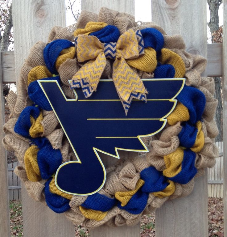 A personal favorite from my Etsy shop https://www.etsy.com/listing/255287809/st-louis-blues-wreath-burlap-st-louis
