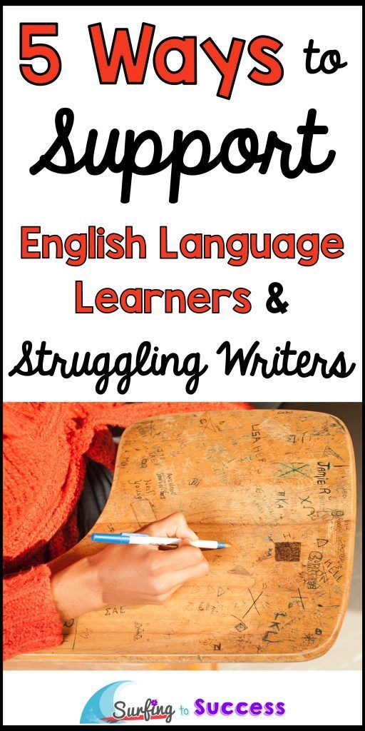 5 Ways to Support English Language Learners and Struggling Writers   Do your ELLs struggle with their writing? Implementing these strategies will help all your students (especially students learning to speak English as a second language (or third, or fourth...) #thirdgrade #fourthgrade #fifthgrade #secondgrade