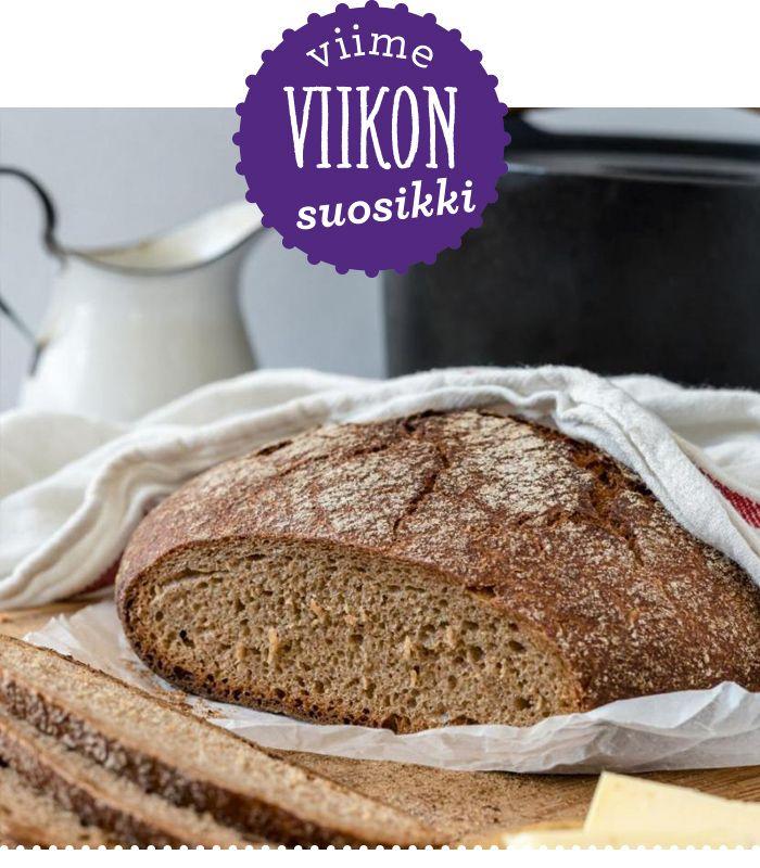 Pataleipä on varmaan jo kaikille tuttu, mutta oletkos testannut pataruisleipää? Perinneruokaa prkl -blogin Mikan ja Antin rukiinen ja täydellisen rapeakuorinen leipäherkku nousi kertaheitolla viikon suosituimmaksi reseptiksi.