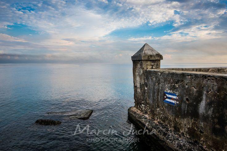 El Malecon famous sea fron promenade in Havana, Cuba