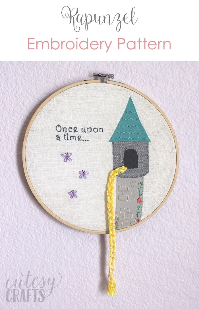 Rapunzel Fairy Tale Hand Embroidery Pattern Embroidery Patterns