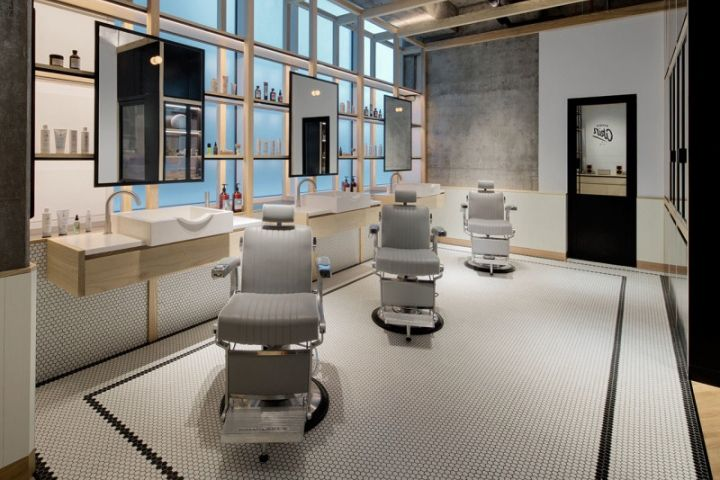 interior of small bedroom akin barber shop by zak hoke dubai uae 187 retail design 15658