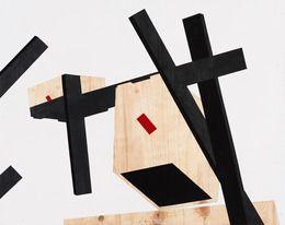 Serge Alain Nitegeka, 'Tunnel VIII: Studio Study XV,' 2014, Marianne Boesky Gallery  Paint on wood 33 7/100 × 41 73/100 in 84 × 106 cm