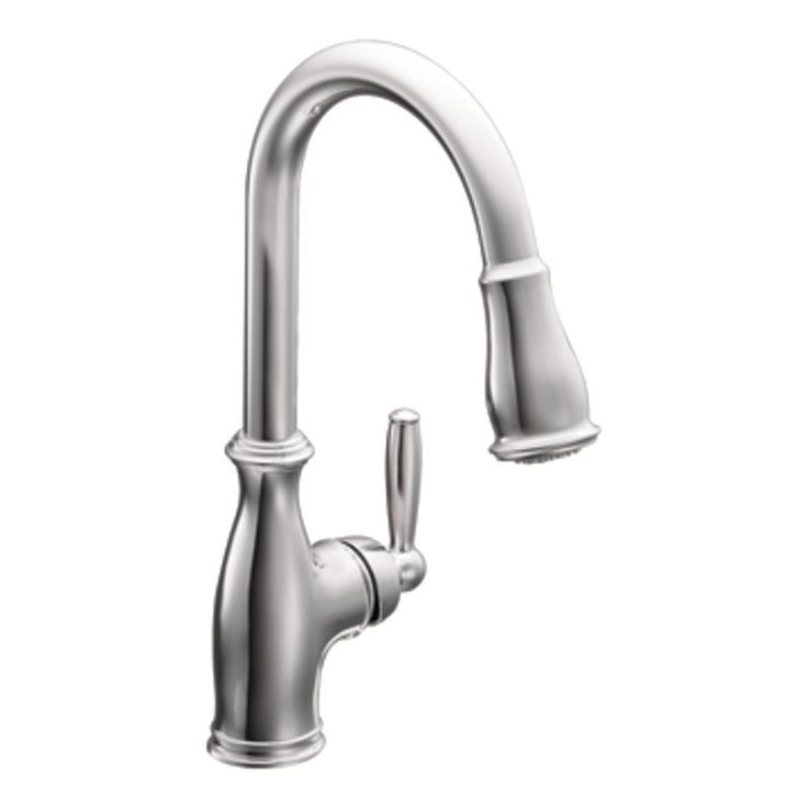 $467.85   Moen   Brantford Single Handle Pull Down Kitchen Faucet