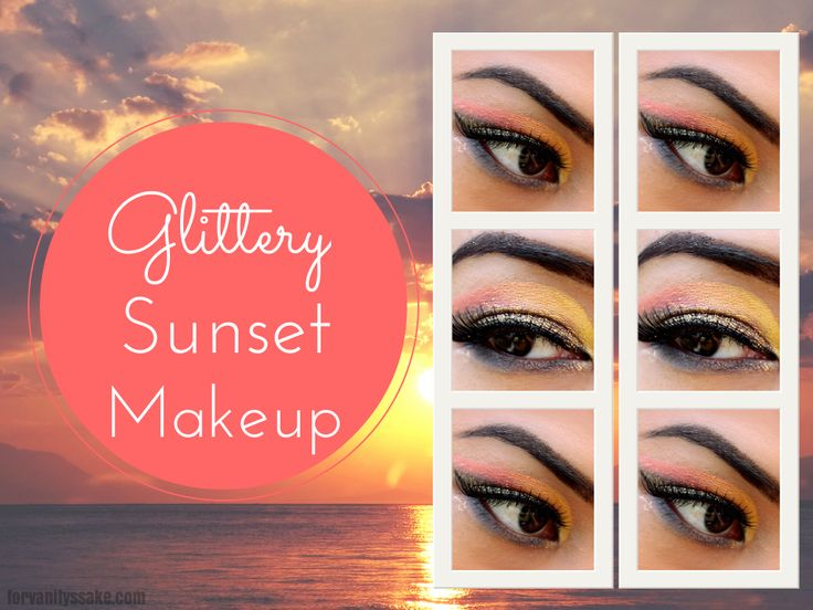 Glittery Sunset makeup