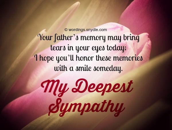 Sympathy Messages for Loss of Father | Wordings and Messages