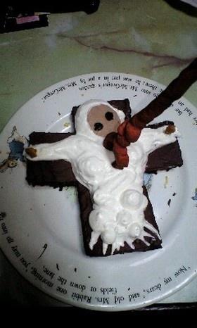 リリスとロンギヌスの槍ケーキ.
