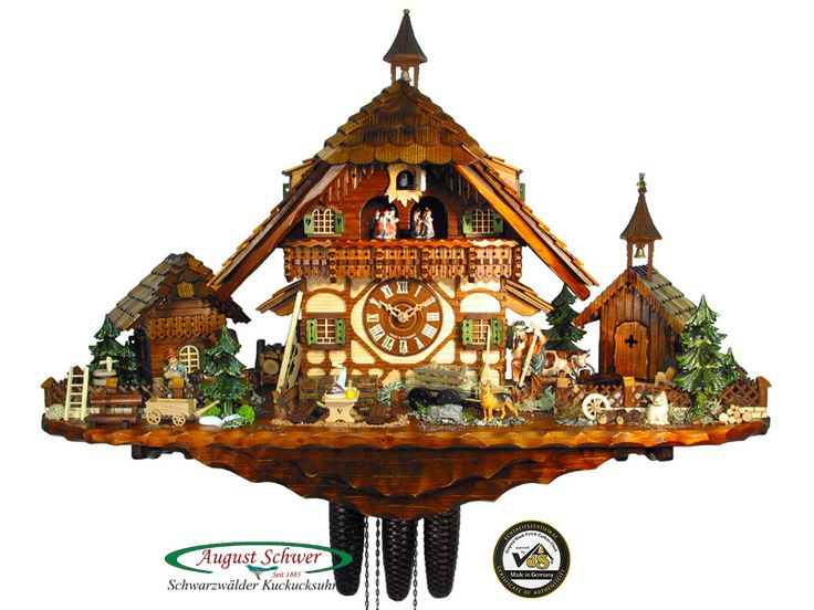 Black Forest Cuckoo Clocks | Details about Black Forest Cuckoo Clock 8-Day Goat Peter's Farm NEW