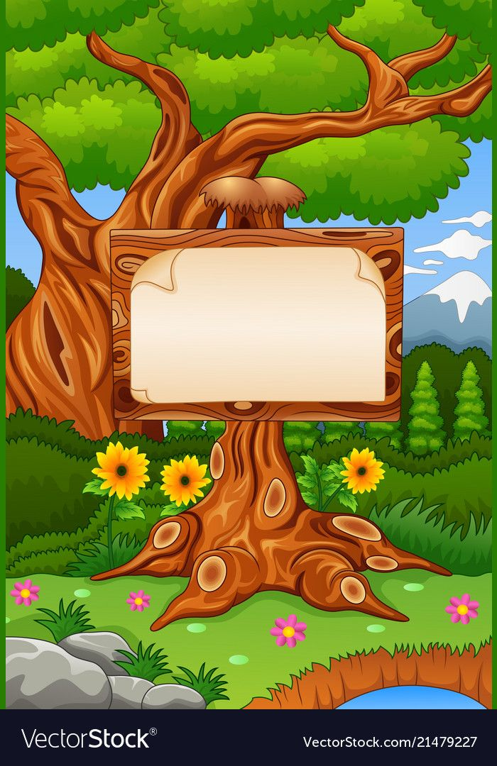 Illustration Of Forest Scene With Wooden Signbord Download A Free Preview Or High Quality Adobe I School Wall Art Poster Background Design Boarders And Frames ✓ free for commercial use ✓ high quality images. forest scene with wooden signbord
