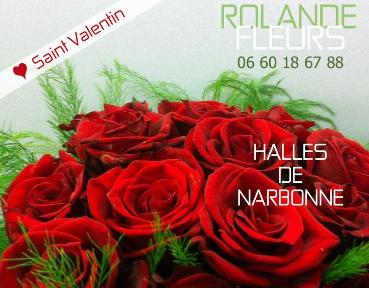 Pour la Saint Valentin, chez votre fleuriste Rolande aux halles de Narbonne. Surprenez votre amoureuse ou votre amoureux avec un cadeau précieux et délicat, associant l'élégance et la poésie au champêtre. Réservez à l'avance vos cadeaux et vos bouquets pour le dimanche 14 février 2016, jour de la saint Valentin. Offrez des bouquets de fleurs de saison fraîchement cueillies et coupées au couteau assemblées dans des compositions originales, modernes et contemporaines