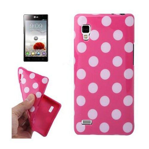 Polka Dots (Pinkki) LG Optimus L9 Suojakuori