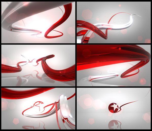 Dragon TV by Renderon Broadcast Design, via Behance