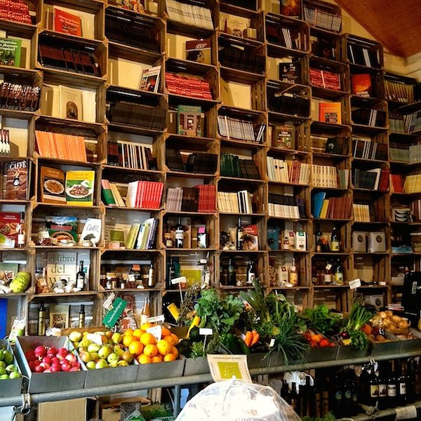 A bookshop in Obidos which also sells organic produce