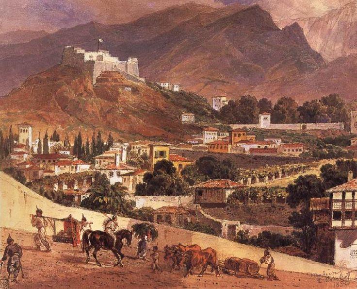 Пейзаж на острове Мадейра. 1849-1850. Бумага, акварель. 19,9 х 24,6. ГРМ.