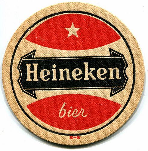 Vintage Heineken beer coaster. #greetingsfromnl