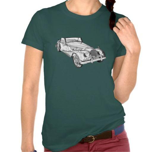 1964 Morgan Plus 4 Sports Car Illustration Tshirt