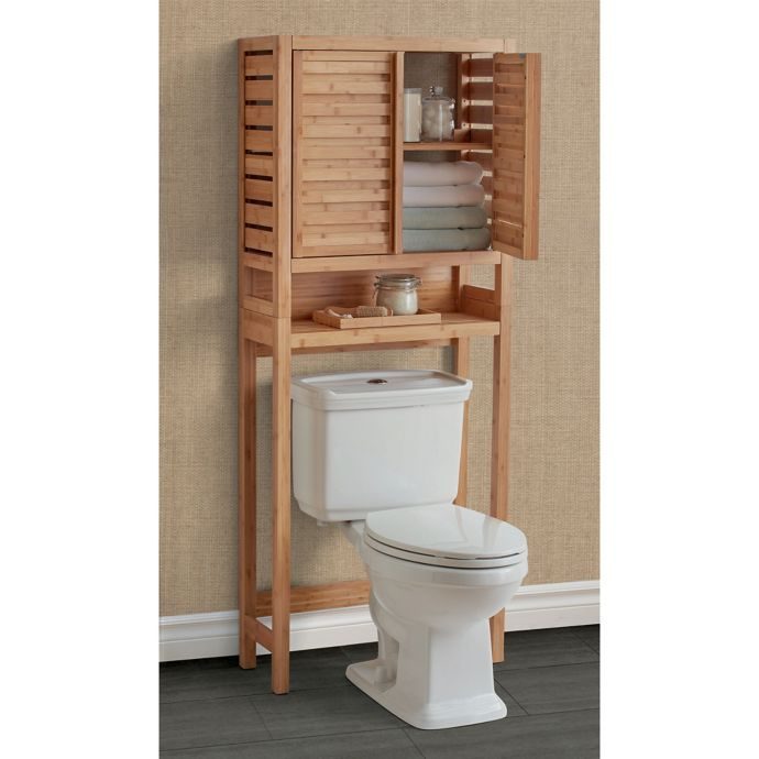 Haven No Tools Bamboo Over The Toilet Space Saver Bed Bath