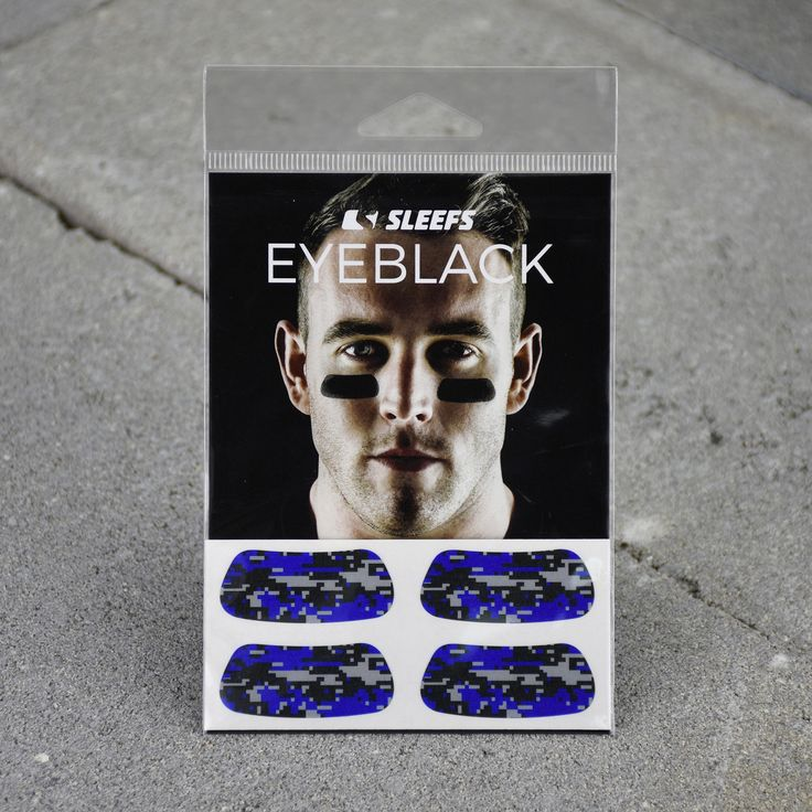 Digital Camo Blue, Black and Gray Eye Black Stickers