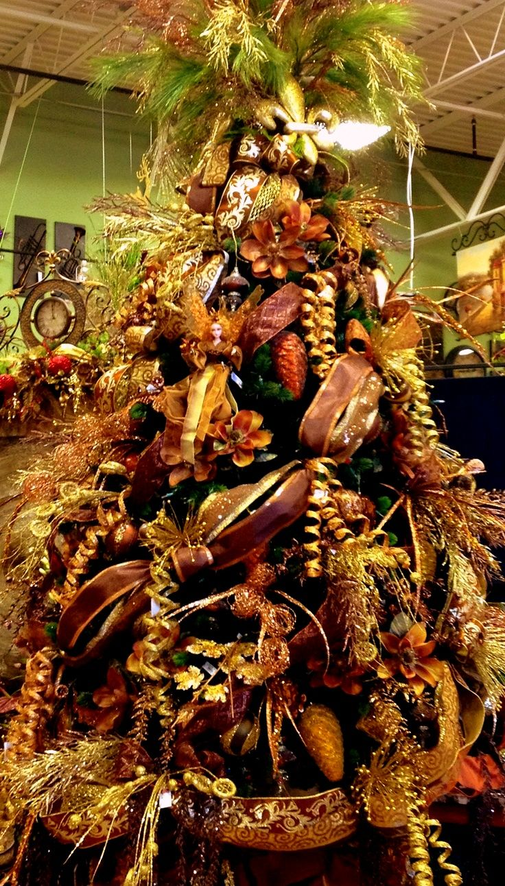 647 Best 1 Colors And Themes For Christmas Tree Images On: brown and gold christmas tree