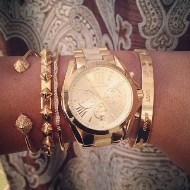 Stacking bracelets. Love pairing my Stella and Dot with my Michael Kors Watch! http://www.stelladot.com/sites/TXamanda