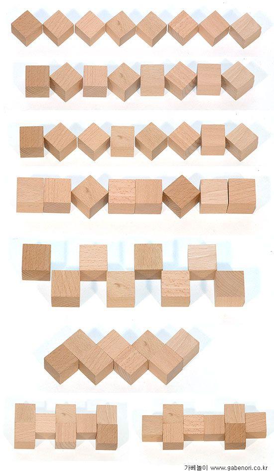 gift 3: patterning Muster legen mit Spielgabe 3
