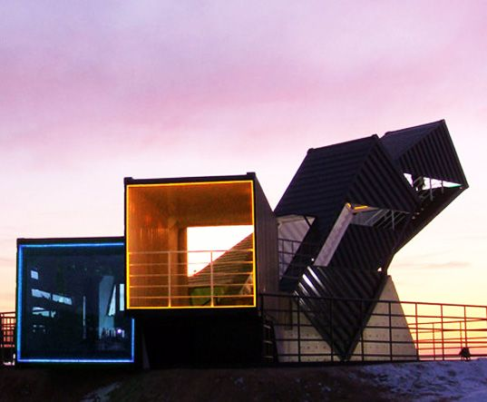 The Coolest Bar in Texas is Built With Seven Stacked Shipping Containers
