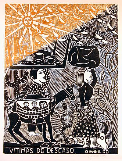 Indigo Arts Gallery | Brazilian Folk Art | Woodcuts by Borges Family & Others