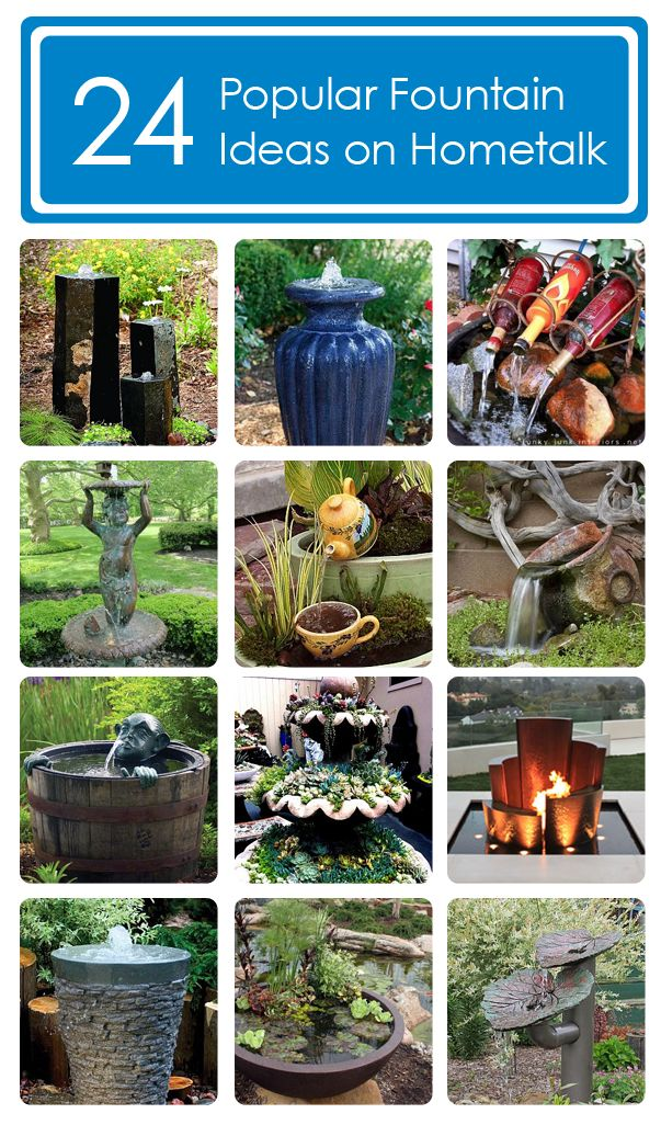 24 fountain ideas - I need one indoors - so relaxing.