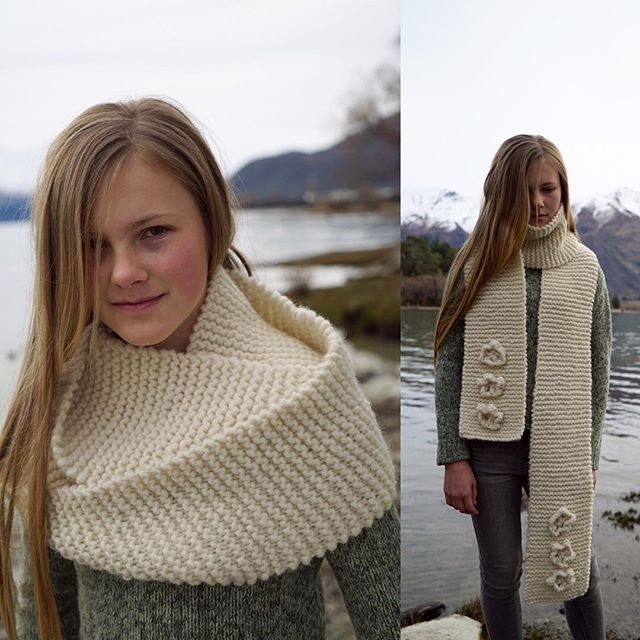 Another chunky knit pattern. A simple scarf with a cowl option. Photographed at…