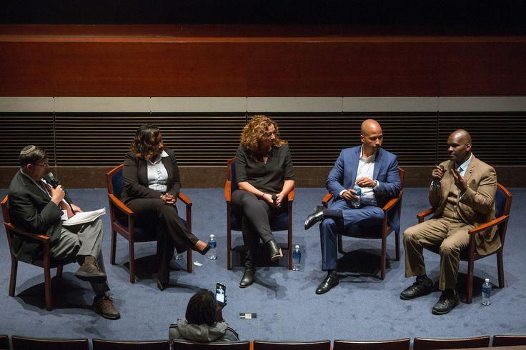 Panel Discussants: Rabbi Feinberg, Kristi Jacobson, Kimberly Jenkins-Snodgrass, Glenn Martin, and Five Mualimm-ak. (Photos taken by Allison Shelley) SOLITARY