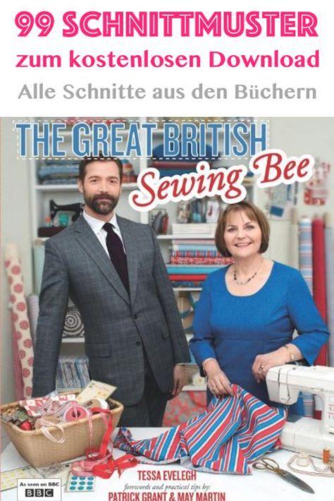 Alle Schnittmuster aus der Serie Great British Sewing Bee zum kostenlosen Download.