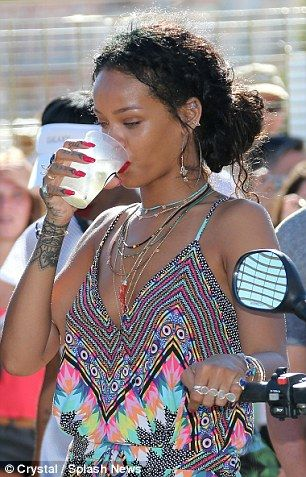 Travelling in style: Rihanna has been sailing around the Mediterranean with her friends on...