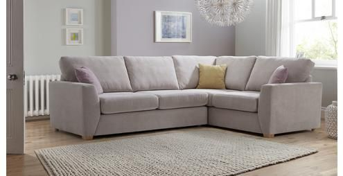 Gracie Left Hand Facing 2 Seater Corner Sofa Sherbet Dfs