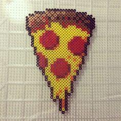 Pizza slice perler beads  by Jake Tastic