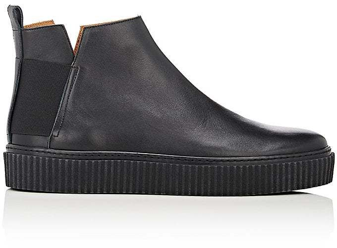 Barneys New York MEN'S CREEPER-SOLE JODHPUR BOOTS