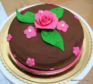 Veena's Art of Cakes: Diabetic Chocolate Cake with Chocolate Frosting