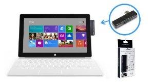 HUB 2 ports USB lecteur de carte 4 en 1 pour tablette Microsoft Surface RT et Pro: Amazon.fr: Informatique