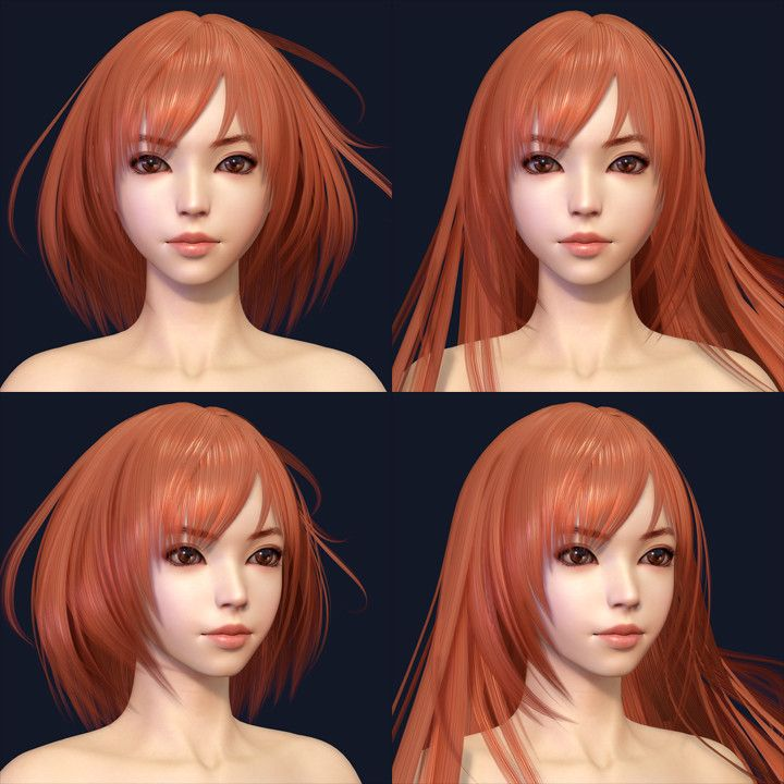 ArtStation - Olivia Hair Work, Shin JeongHo