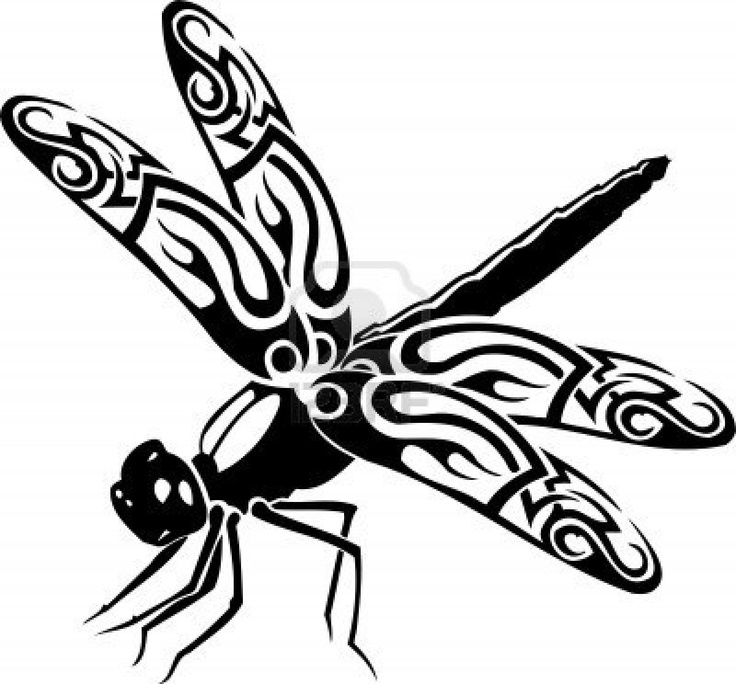 Dragonfly.Vector illustration ready for vinyl cutting. Stock Photo