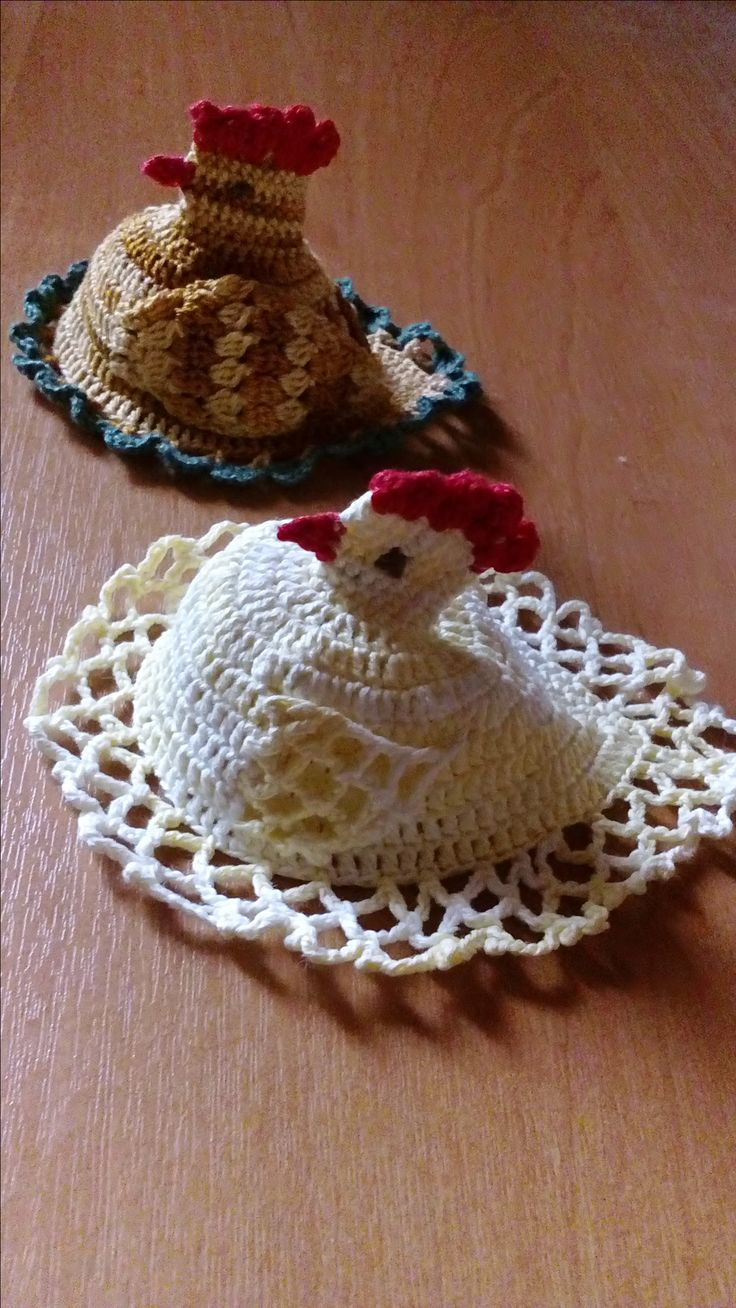 szydełkowe kurczaki