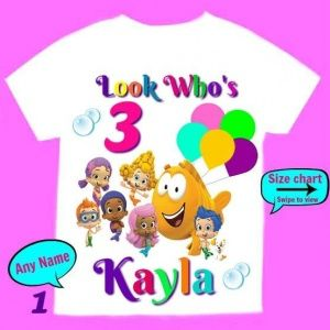 Blubble Gupies Girl Birthday shirt