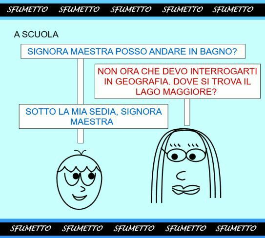Le barzellette sulla scuola di Sfumetto.net #scuola #lago #barzellette