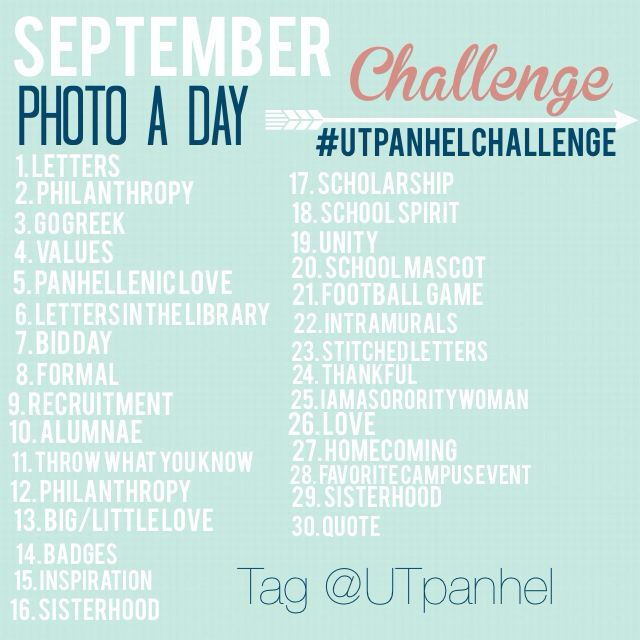 Panhellenic September Photo Challenge